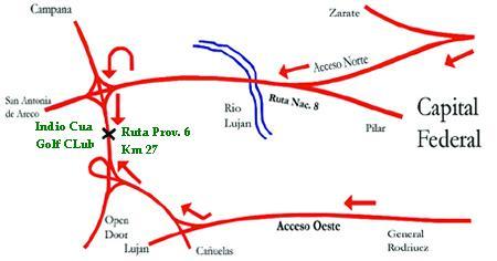 Indio c a golf club c mo llegar for Benetton quedara autopista panamericana acceso oeste