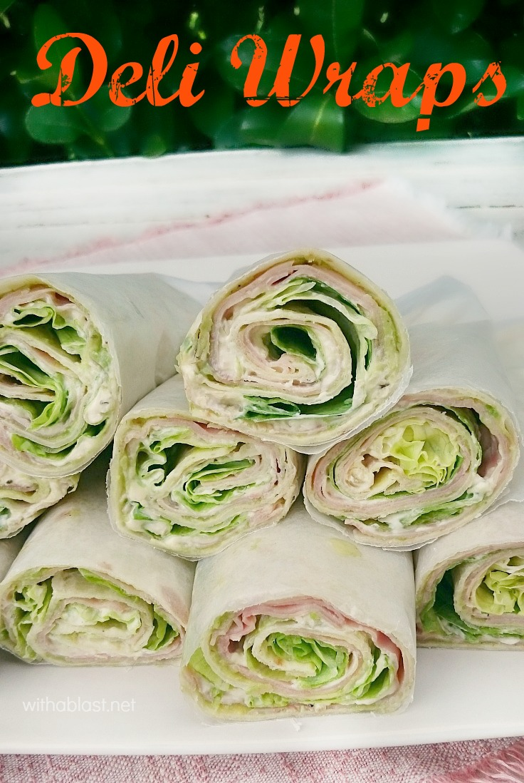 These Deli Wraps are quick, easy and delicious - with layers of lettuce, Deli Ham, Cream Cheese and more