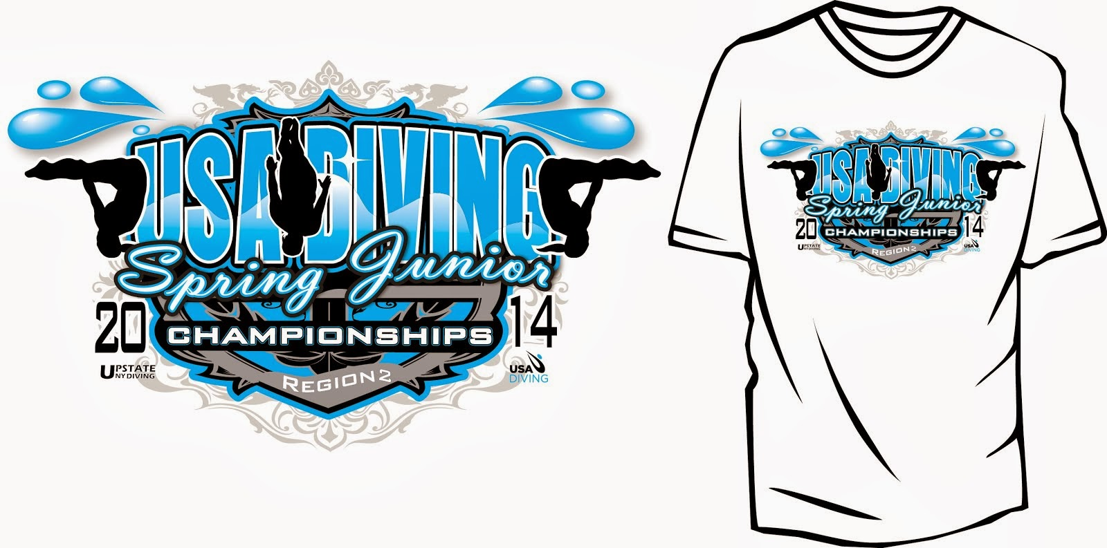Swimming and Diving apparel design