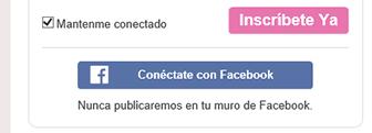 Crear cuenta en Amor en Linea con Facebook