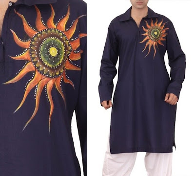 Best Stylish Pakistani Kurtas For Men Eid Collection 2013