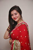 Priyal Gor Dazzling in Red Saree-thumbnail-5