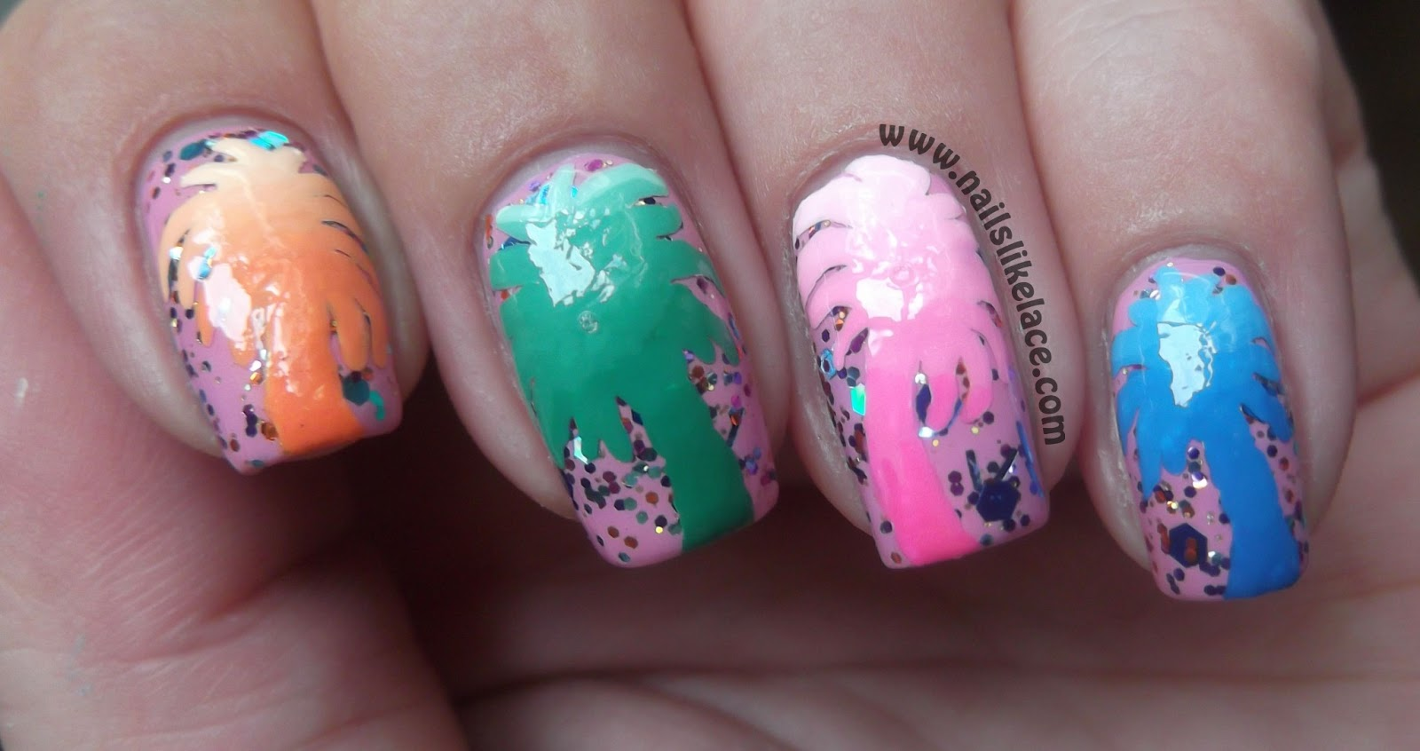 NailsLikeLace: Gradient Palm Tree Nails