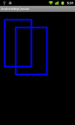 Draw rectangle on canvas, canvas.drawRect()