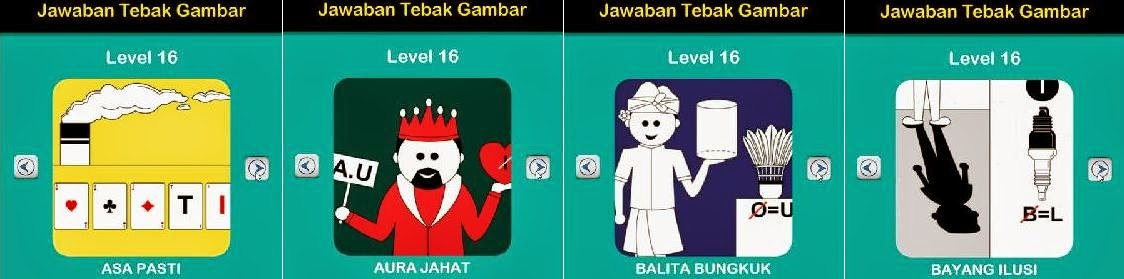 Jawaban Game Tebak Gambar Android Level 16 1-4