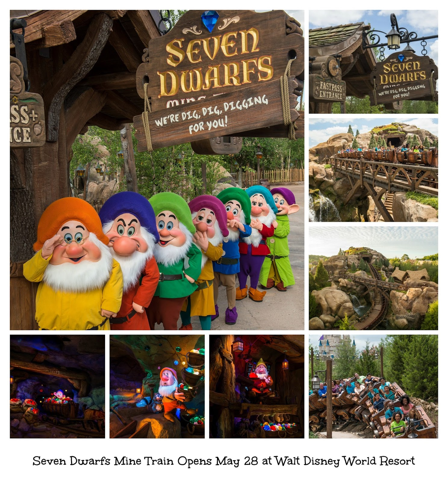Seven Dwarfs Mine Train Opens May 28 at Walt Disney World Resort - Full Ride Through Video  #NewFantasyland