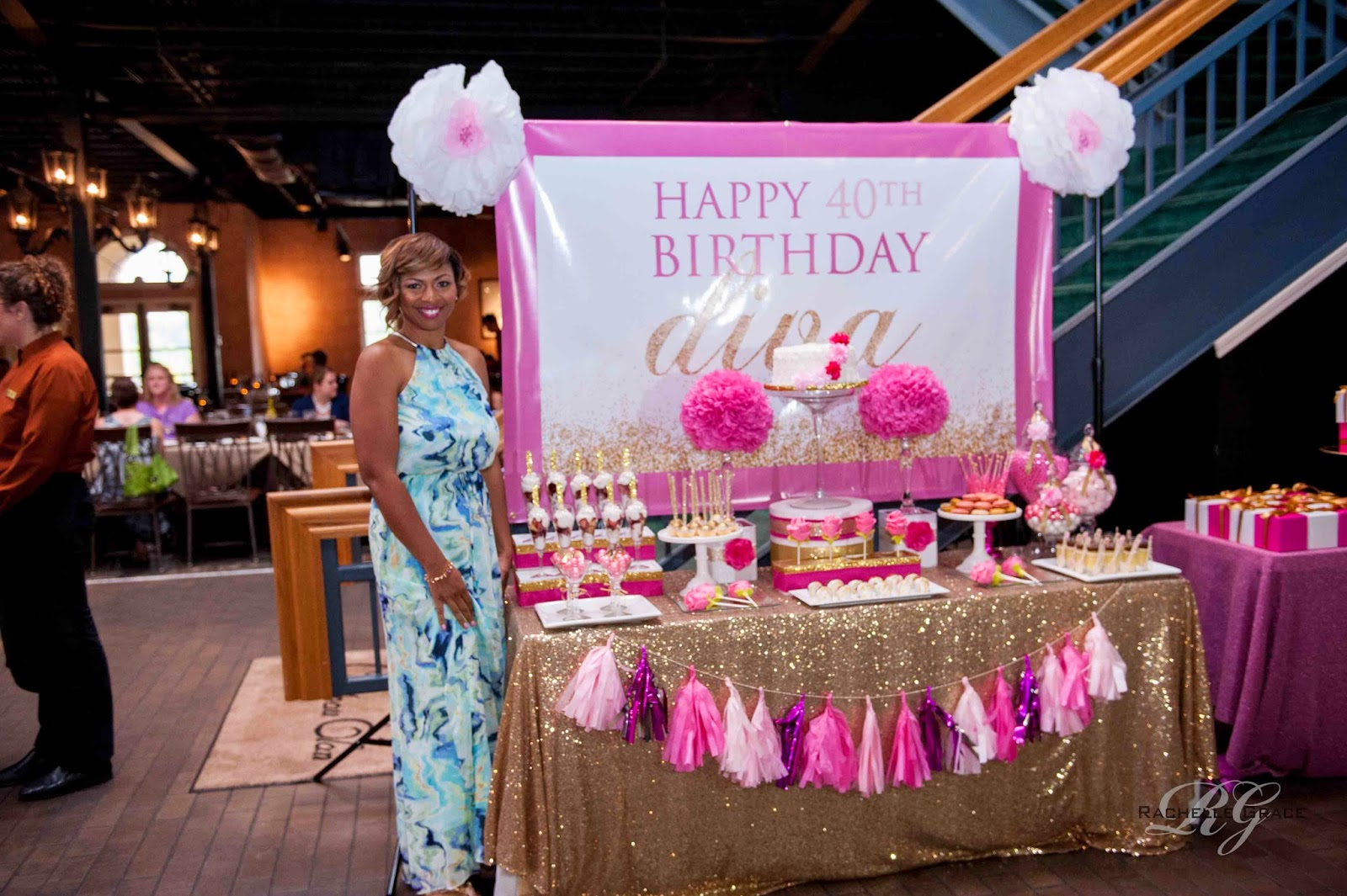 Create Cook Capture Diva Pink Gold 40th Birthday Party