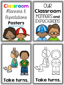 Classroom Manners and Expectations Posters - Social Skills