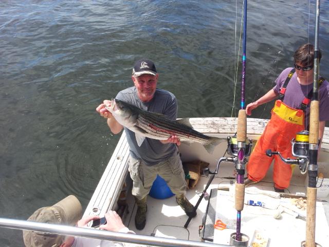 The mid atlantic sportsman sandy hook nj striped bass for Sandy hook fishing report