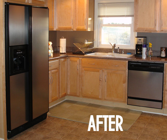 Previous Kitchen Makeover With Contact Paper Before And: Stainless Steel Contact Paper
