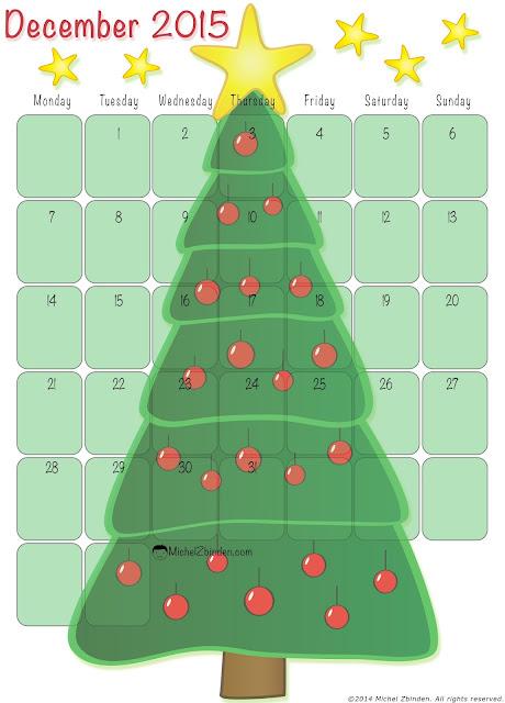 Free December 2015 Christmas Calendar