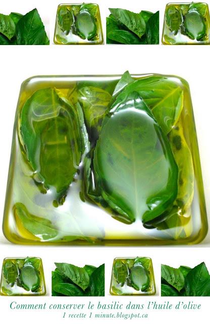 1 recette italienne comment conserver le basilic frais dans l 39 huile d 39 olive. Black Bedroom Furniture Sets. Home Design Ideas