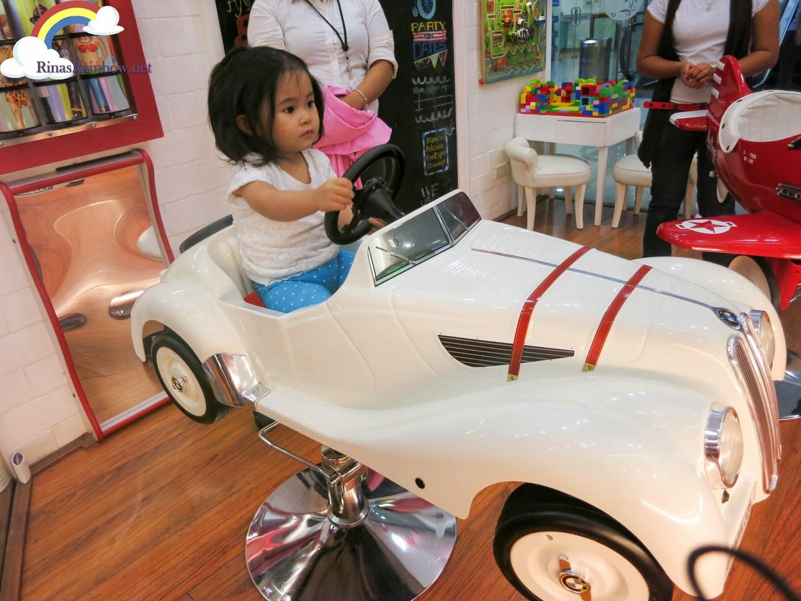 vintage car kiddie seat