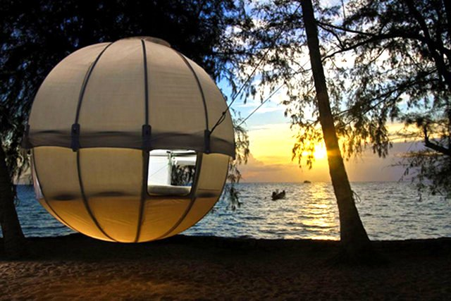 High Quality A Tree Tent, A Birdsnest For Humans, A Mobile Treehouse, A Covered Hammock.  Call It Whatever You Wish But It Looks Like Fun.