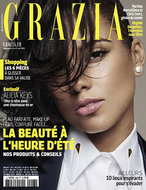 Musician, Actress, Singer @ Alicia Keys for Grazia France June 2015