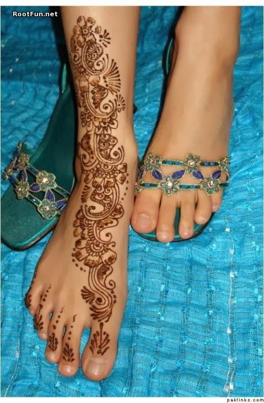 Mehndi Designs Feet Arabic : Beautiful latest simple arabic pakistani indian bridal