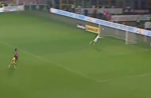 Verona defender Domenico Maietta scores against Torino following a solo counter-attack