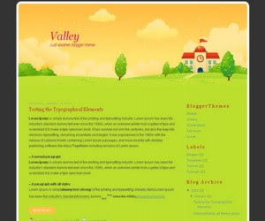 Valley Blogger Template
