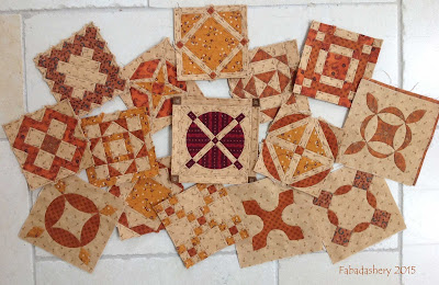 Dear Jane Quilt - September 2015 Progress