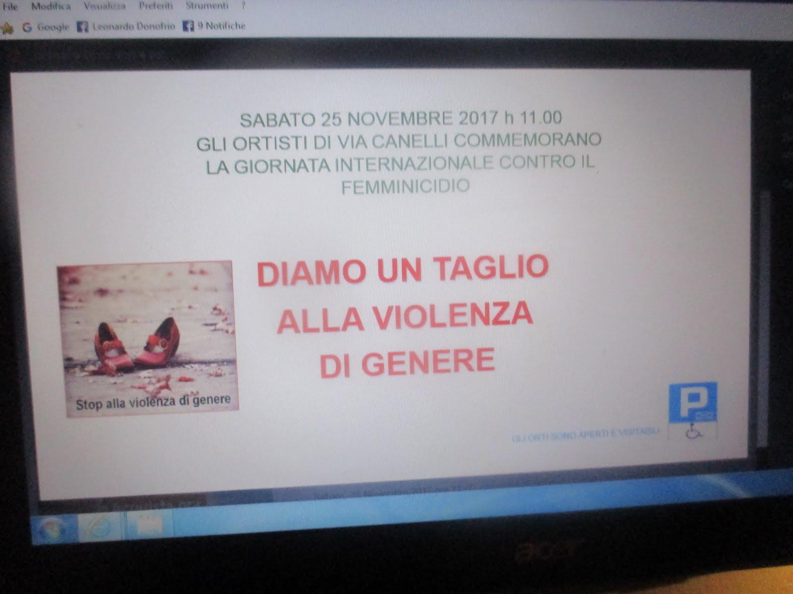 GIORNATA INTERNAZIONALE CONTRO IL FEMMINICIDIO