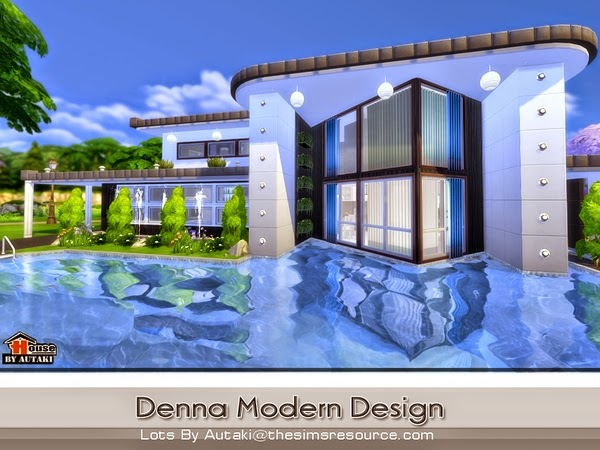 Casa moderna denna the sims 4 pirralho do game for Casas modernas the sims 4