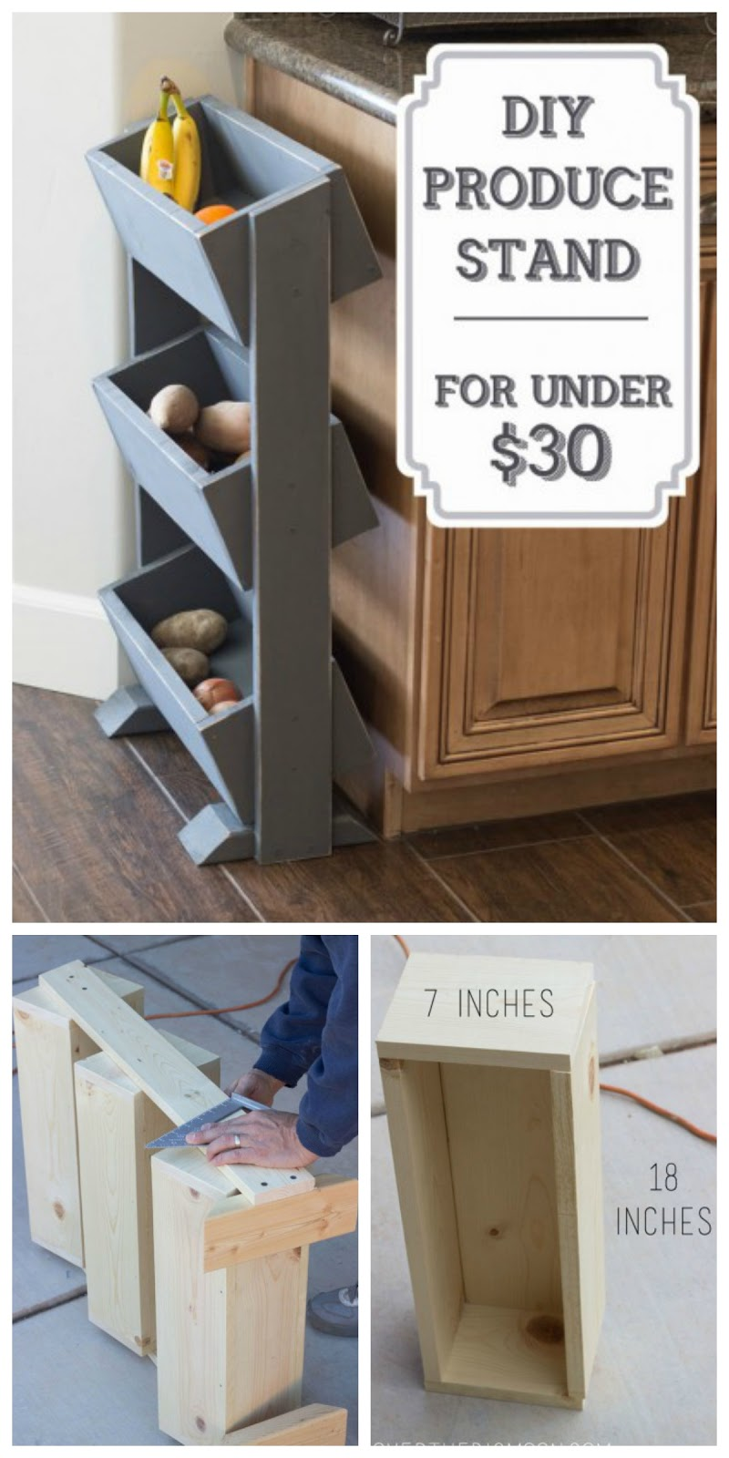 Diy kitchen produce stand for under 30 handy homemade Easy diy storage ideas for small homes