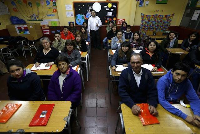 Santiago'da bir sınıf