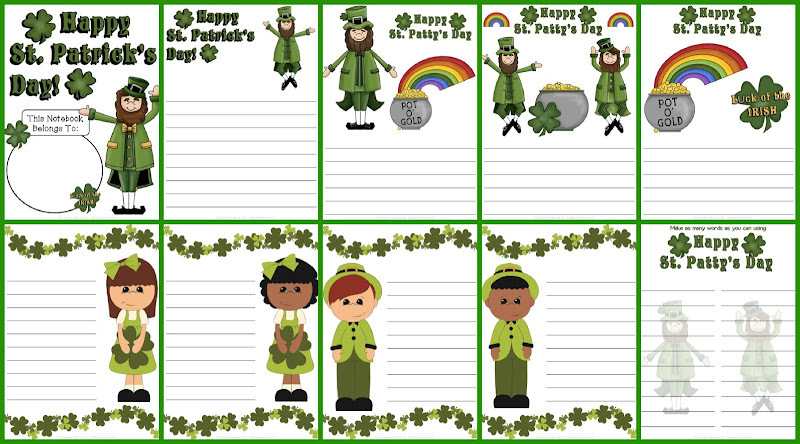 Download St. Patrick's Day Notebooking Pages title=