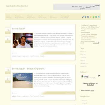 Namalitis blogger template. slideshow template blog. pagination for blogger template. magazine style blog template.  template blog form wordpress theme