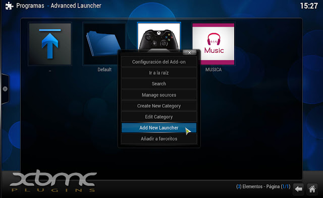 ADVANCED LAUNCHER KODI