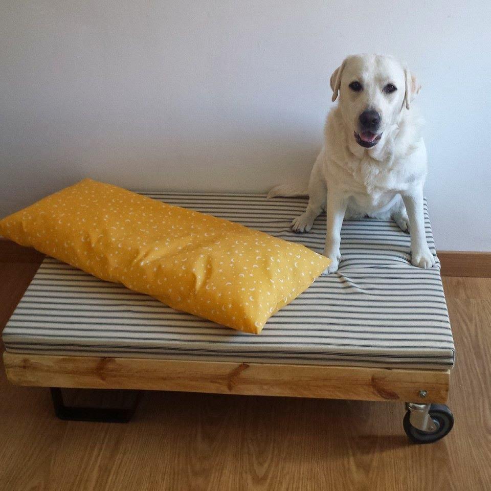 Mibarquitodepalet cama de palet para perros - Como hacer una cama para perro ...