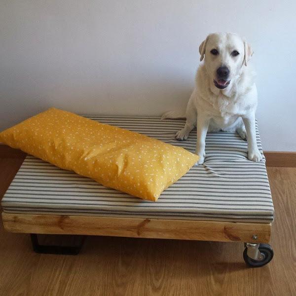 Chill decoraci n cama de palet para mascotas for Cuantos palets necesito para hacer una cama