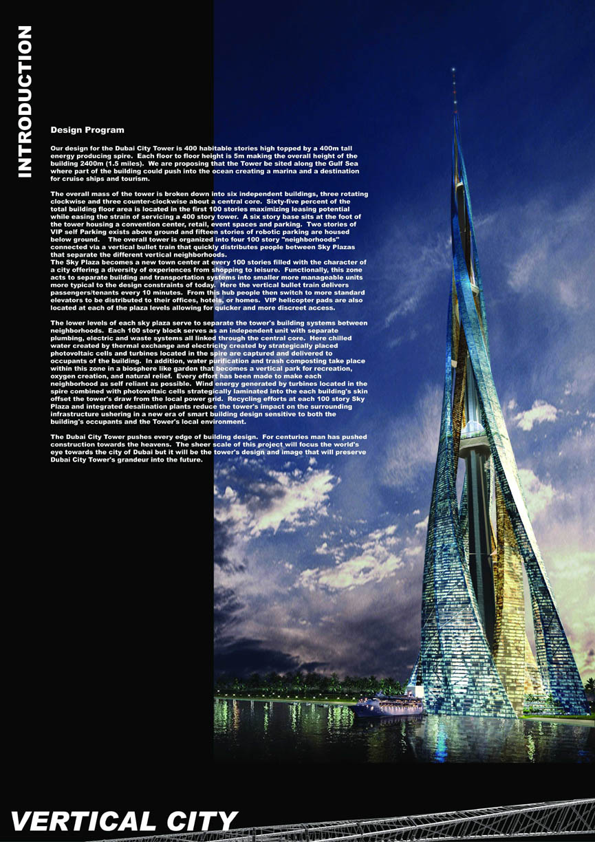 Architecture Corner Vertical City Dubai