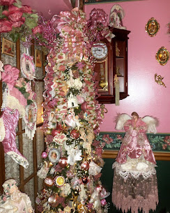 A Pink Christmas in Dining Room, Part 1, Christmas Home Tour, 2017