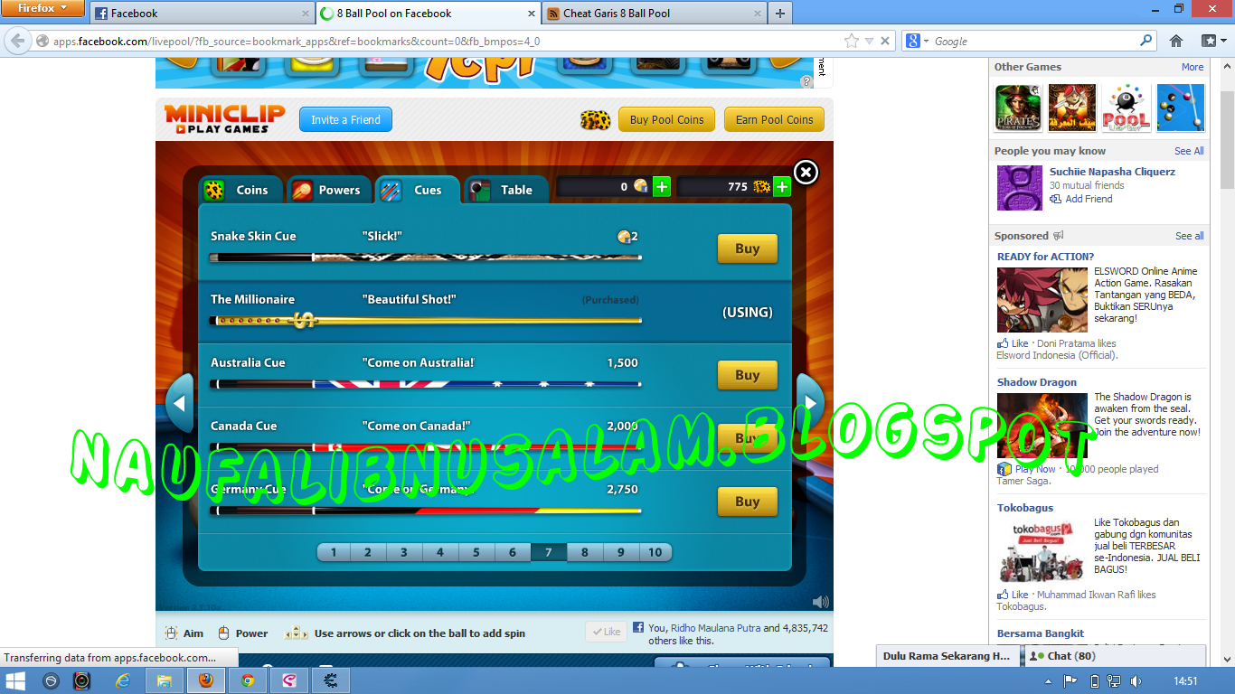 comments 8 ball pool friday march 29 2013 cheat tongkat 8 ball pool