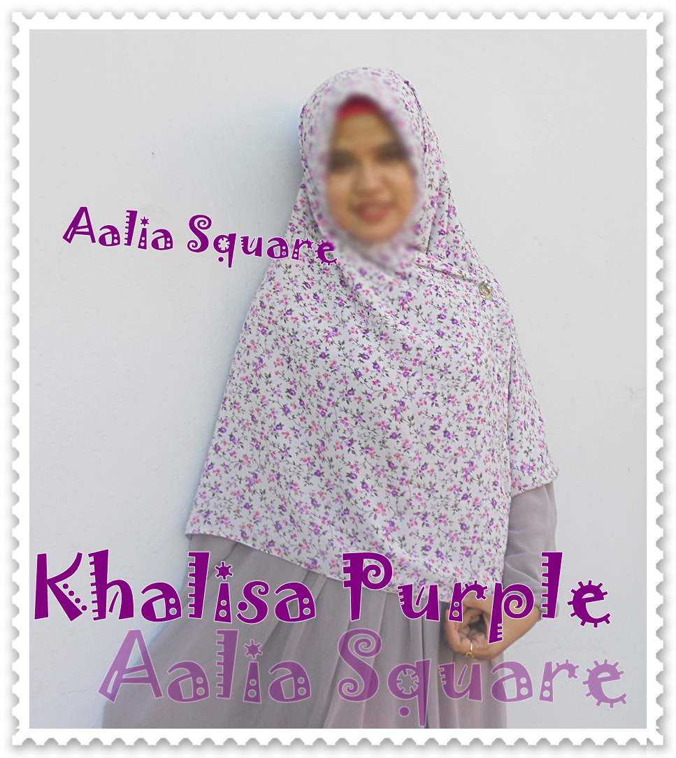 KAMILA MUSLIMAH CLOTHING AALIA SQUARE HIJAB KALISHA FLOWER SERIES