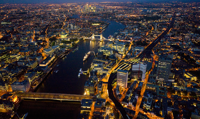 London By Night From Sky