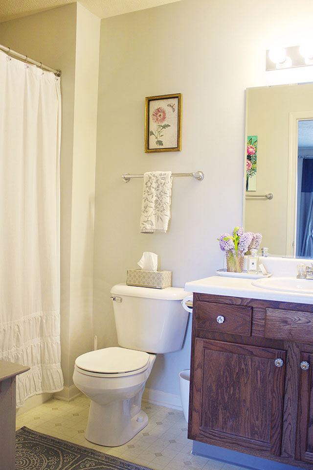 Apartment Update: Bathroom Paint Reveal - Michaela Noelle Designs