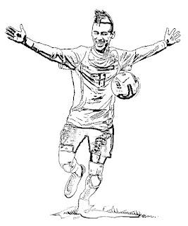 Dibujo de Neymar para colorear