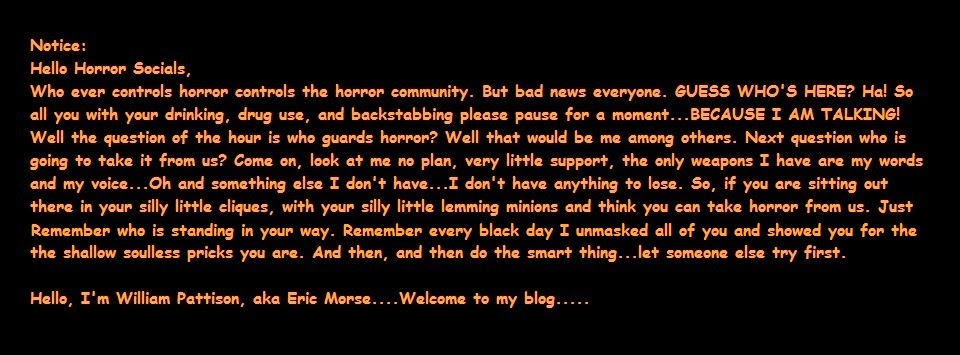 Blog Notice to Horror Socials