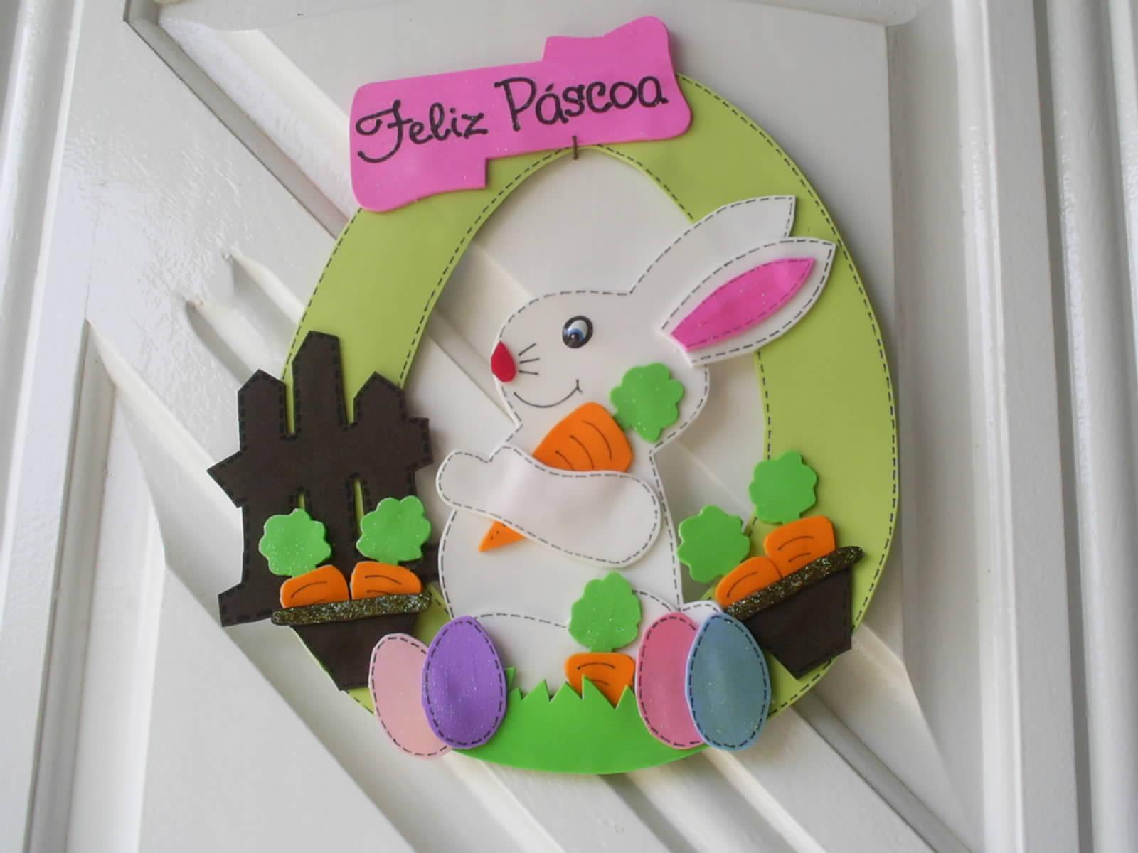 Como fazer um coelho da páscoa de fuxico