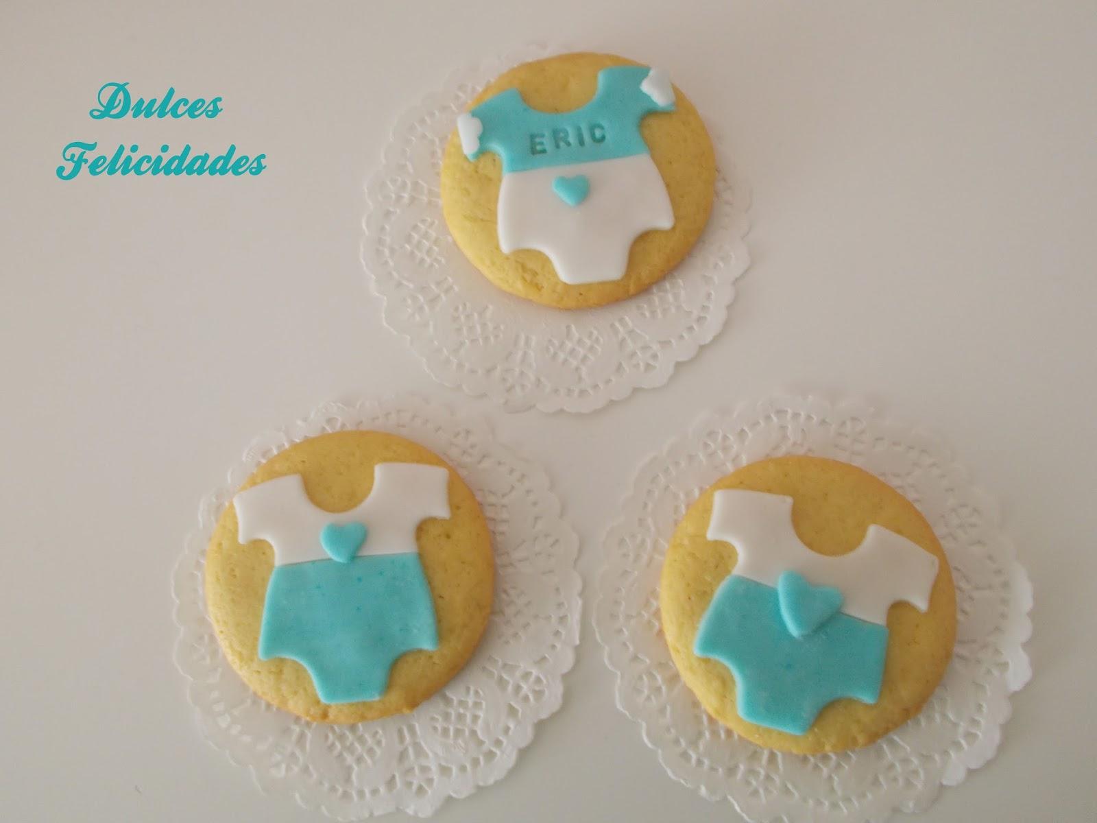 Dulces felicidades Galletas para el Baby Shower de Eric y Martn