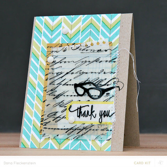Thank You card using Studio Calico Copper Mountain Card Kits by @pixnglue