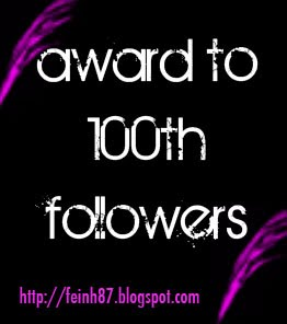 Follower ke-100 Farah's Blog