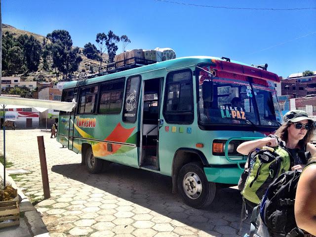 A local bus in Bolivia