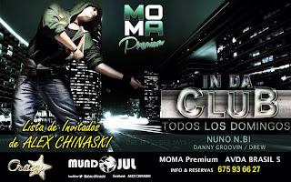 MOMA PREMIUM DOMINGO 22 de Diciembre IN DA CLUB