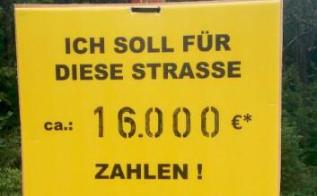 Gegen Straßenbaubeiträge ...auch in Morsbach