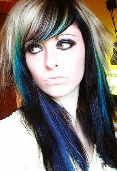 Black Hair With Blue Highlights Pictures