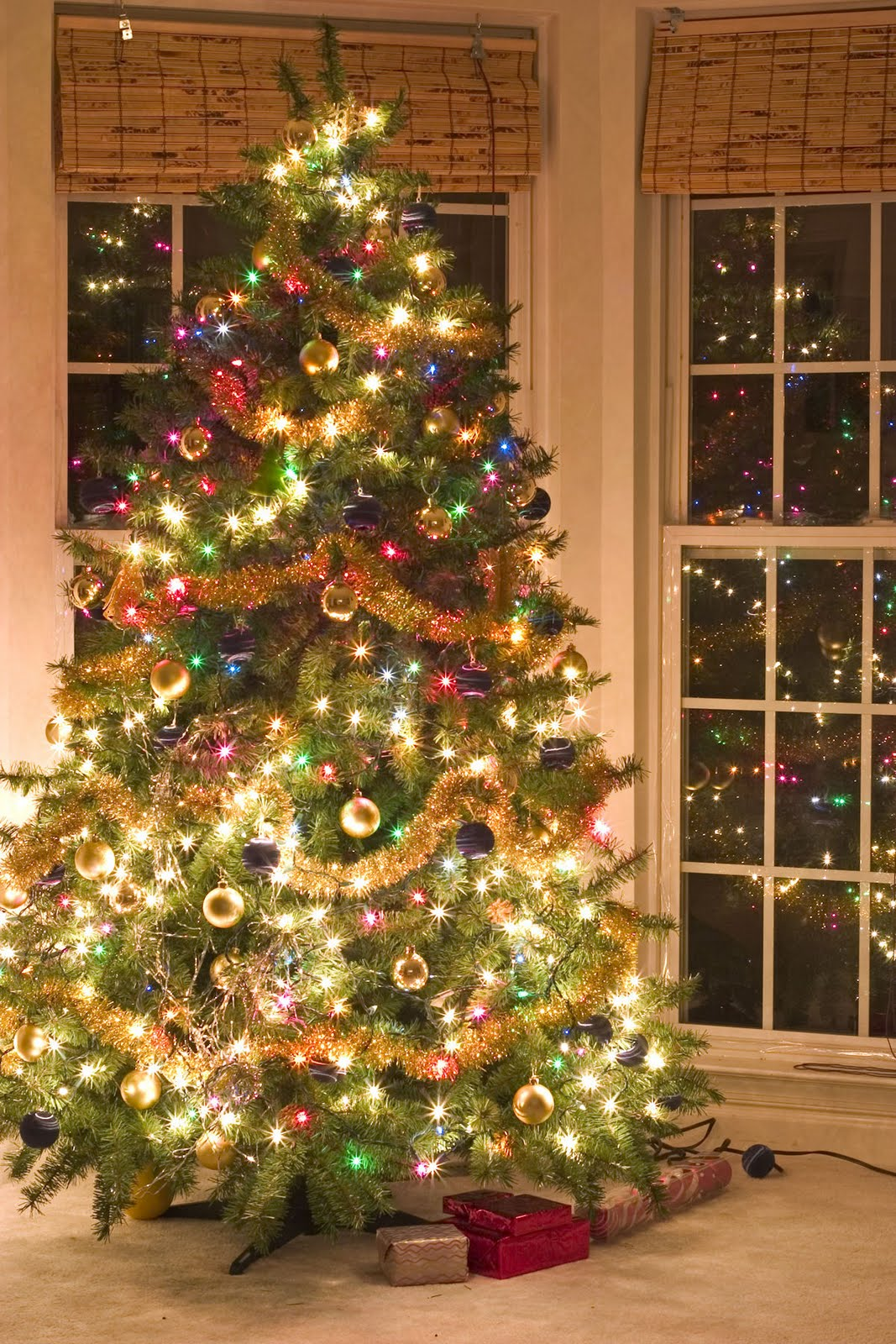 Zoom frases imagenes navidad con arboles wallpapers fondos - Imagenes de arboles navidad decorados ...