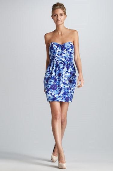 Julieanna Strapless Print Dress